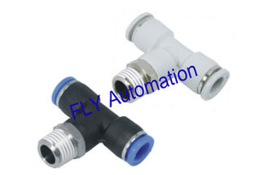 China Quick Connect PB Pisco Tee Zink Messing pneumatische Rohrverschraubung fournisseur