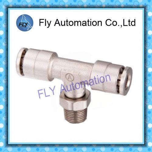 Pneumatic Tube Fittings T-Tee nickel-plated brass push-in fittings PB series