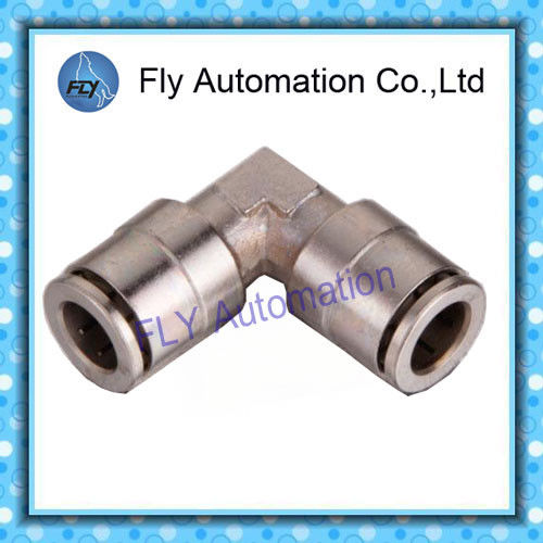 Copper nickel-plated straight angle quick-change connectors Pneumatic Tube Fittings PV series
