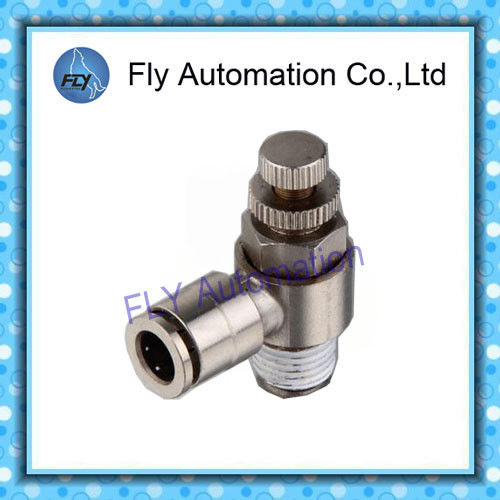 Nickel -plated metal control valve Pneumatic Tube Fittings SC series