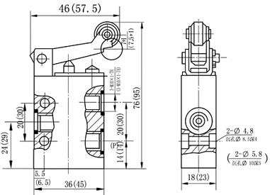 "3/2 Wege, mechanische Manual Pneumatikventile 1/8 "", 1/4"", K23JC3-L6, K23JC3-L8"